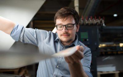 Sergej: 3. Ausbildungsjahr zum Drucker (Medientechnologe Druck) bei der CPI Clausen&Bosse GmbH