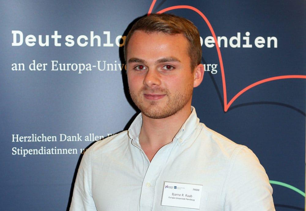 Deutschlandstipendiat Bjarne von der EUF